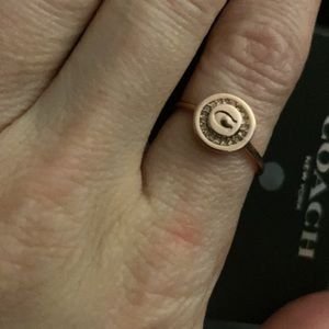 Coach Rose Gold Ring